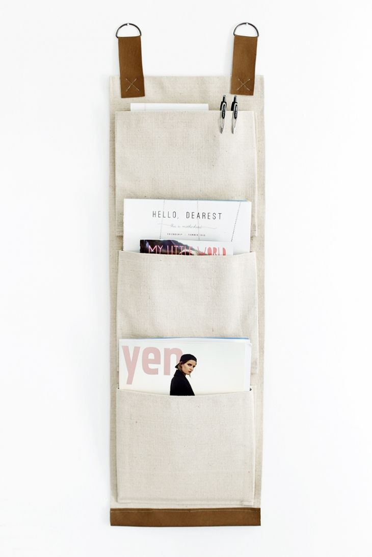 Canvas wall pockets