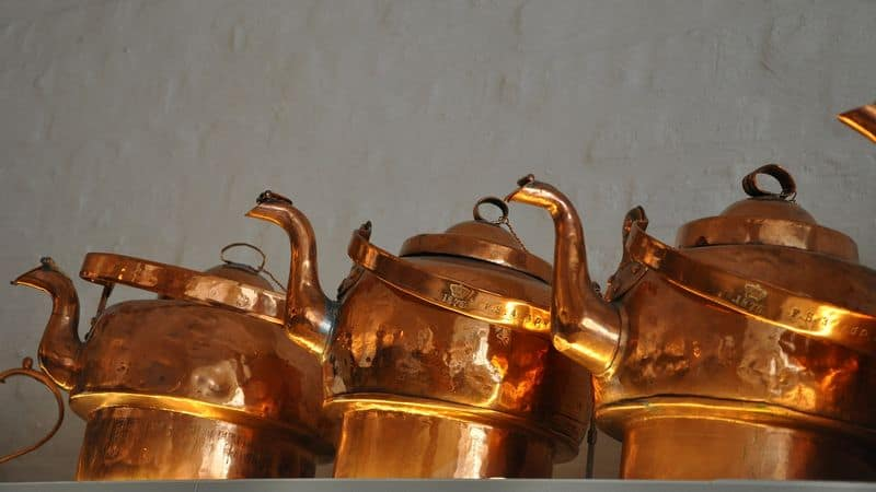 clean copper kettles